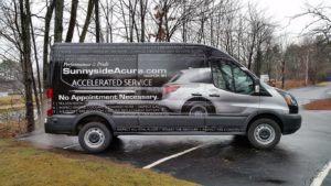 Van Wrap Graphics Acura 2