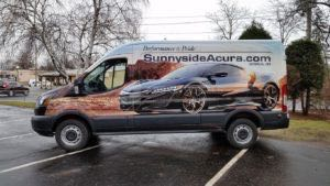 Van Wrap Graphics Acura