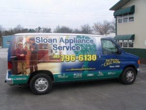 Van Wrap Graphics Appliance Repair SLON