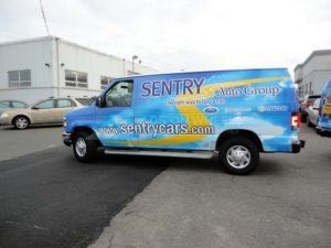 Van Wrap Graphics Automotive Dealership Parts SAG3