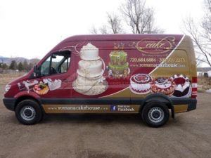 Van Wrap Graphics Bakery IOAN
