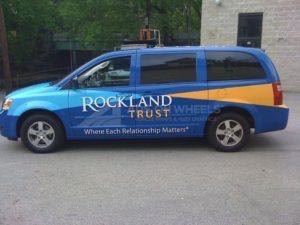 Van Wrap Graphics Bank Rockland RLT