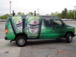 Van Wrap Graphics Beer Heineken