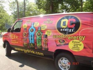 Van Wrap Graphics Beverage OCenergy