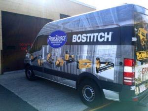 Van Wrap Graphics Bostitch Tools PSBB