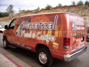Van Wrap Graphics Casino Shuttle MAZ