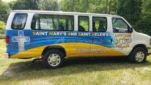 Van Wrap Graphics Church LTS
