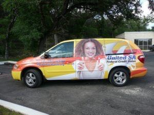 Van Wrap Graphics Credit Union SAF