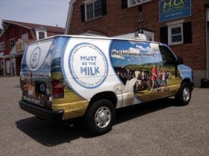 Van Wrap Graphics Dairy Milk MILK