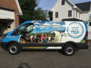 Van Wrap Graphics Dairy Milk Transit MILK3