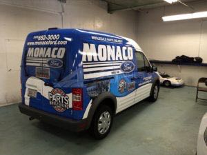 Van Wrap Graphics Dealership Parts MNF