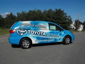 Van Wrap Graphics Dealership Toyota TON