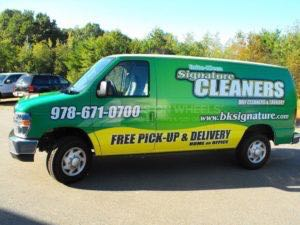 Van Wrap Graphics Dry Cleaning SNC