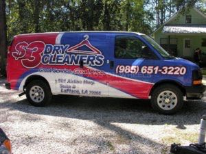 Van Wrap Graphics Dry Cleaning Service TDD