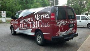 Van Wrap Graphics Electrical Contractor WEB