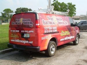 Van Wrap Graphics Electrician VWE