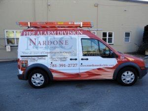 Van Wrap Graphics Fire Alarm NEC