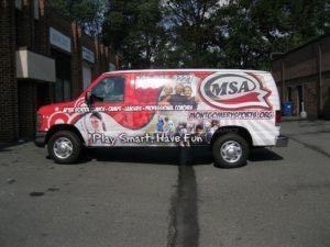 Van Wrap Graphics Fitness MSA