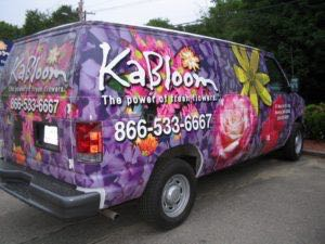Van Wrap Graphics Florist KAB