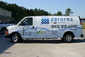 Van Wrap Graphics Franchise Zero Rez