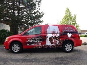 Van Wrap Graphics Hills Bros Coffee MZB