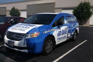 Van Wrap Graphics Honda Dealership Courtesy JWH2