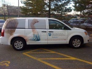 Van Wrap Graphics Hospital Medical WRO