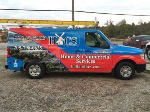 Van Wrap Graphics Hvac HCS