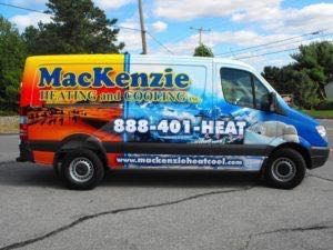 Van Wrap Graphics Hvac Heating AC MAC