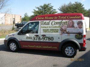 Van Wrap Graphics Hvac Heating TCF
