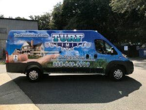 Van Wrap Graphics Landscaping Promaster TUR
