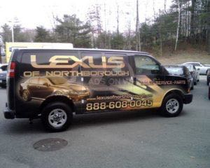 Van Wrap Graphics Lexus Dealership LON