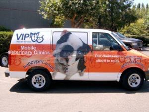 Van Wrap Graphics Pet Care VIP