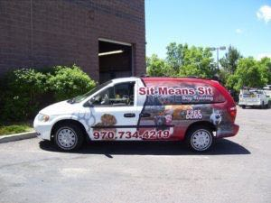 Van Wrap Graphics Pet Service SMS