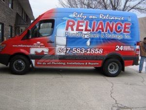Van Wrap Graphics Plumbing RLP
