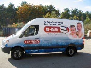 Van Wrap Graphics Rebath Franchise NEB