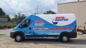 Van Wrap Graphics Roto Rooter Water Plumbing ROTO