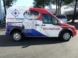 Van Wrap Graphics Safety Ice