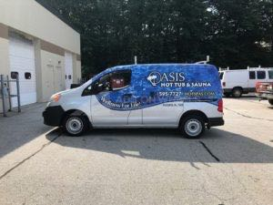Van Wrap Graphics Spa Hot Tub OAS