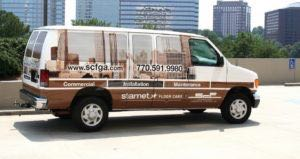 Van Wrap Graphics Starnet Flooring SEF