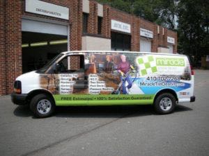 Van Wrap Graphics Tile Cleaning HVY