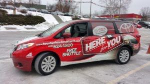 Van Wrap Graphics Toyota Dealership Courtesy IRA2