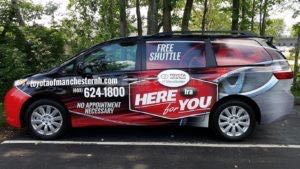 Van Wrap Graphics Toyota Dealership Courtesy IRA3