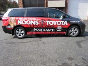 Van Wrap Graphics Toyota Dealership Koons