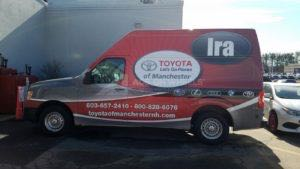 Van Wrap Graphics Toyota Dealership Parts IRA3