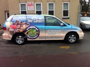 Van Wrap Graphics Tropical Smoothie TSC