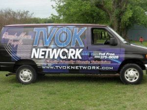 Van Wrap Graphics Tv Station TVK