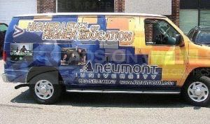 Van Wrap Graphics University NEU