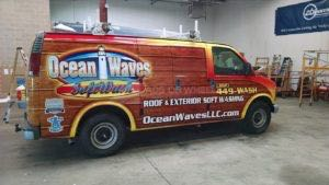 Van Wrap Graphics Wash Wood OWL2