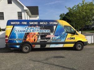 Van Wrap Graphics Water Restoration Sprinter QCR3